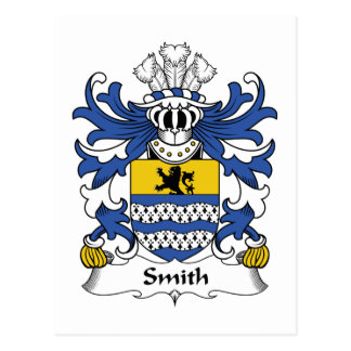 Smith Family Crest Postcard