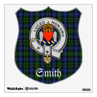 Smith Family Tartan and Crest Wall Decal