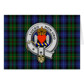 Smith Family Tartan Plaid and Clan Crest Badge Greeting Card
