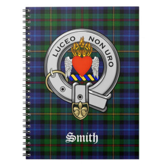 Smith Family Tartan Plaid and Clan Crest Badge Note Book