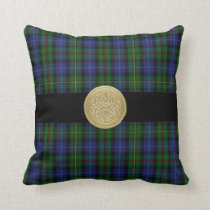 Smith Family Tartan Plaid Pillow with Celtic Knot