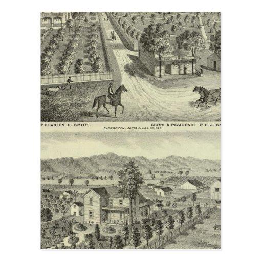 Smith, Herman residences, store Postcard