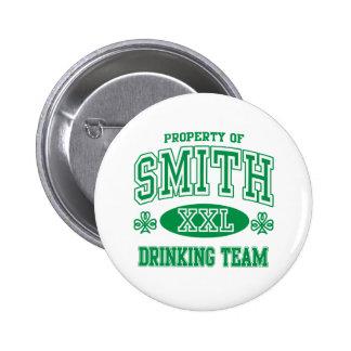 Smith Irish Drinking Team Pinback Button