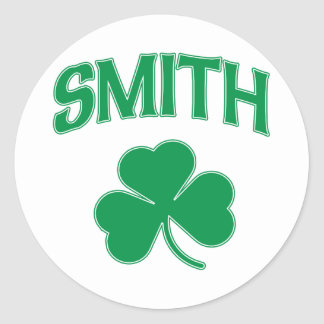 Smith Irish Shamrock Classic Round Sticker