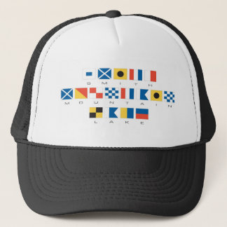 Smith Mountain Lake Nautical Flags Trucker Hat