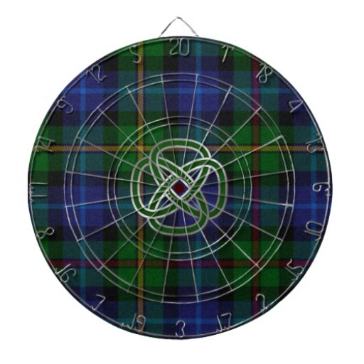 Smith Plaid with Celtic Knot Dart Board