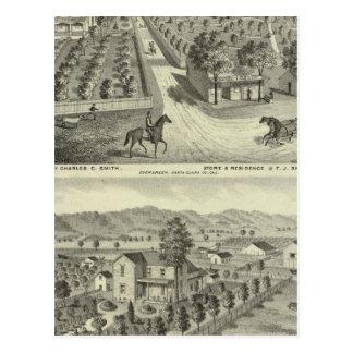 Smith, residencias de Herman, tienda Postal