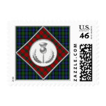 Smith & Robertson Tartans with Silver Thistle Postage Stamp