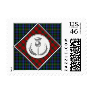 Smith Robertson Tartans with Silver Thistle Postage Stamp