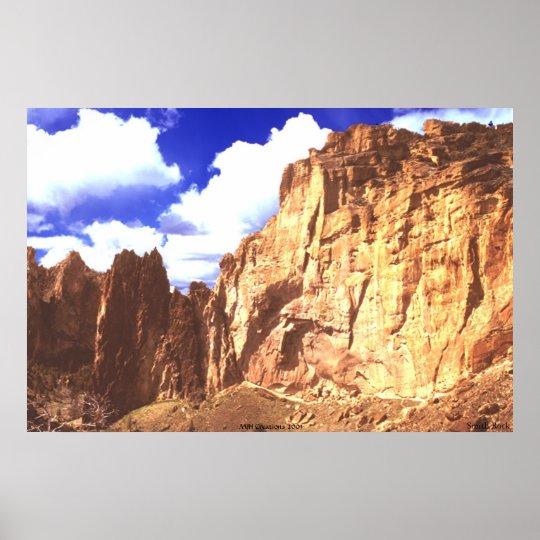 """Smith Rock"" High Desert Serenity Poster"