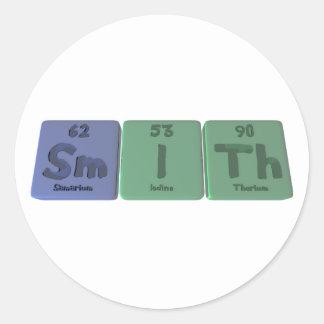 Smith-Sm-I-Th-Samarium-Iodine-Thorium.png Classic Round Sticker