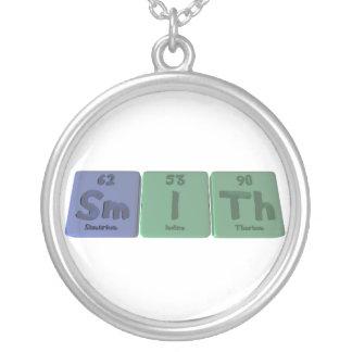 Smith-Sm-I-Th-Samarium-Iodine-Thorium.png Round Pendant Necklace