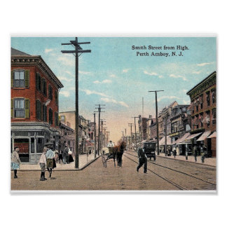 Smith St, Perth Amboy, New Jersey Vintage Poster