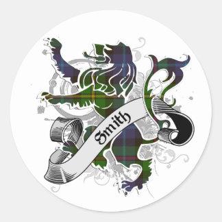 Smith Tartan Lion Classic Round Sticker