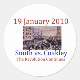 Smith vs Coakley Classic Round Sticker