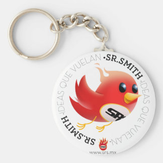 SmithBrand! products Basic Round Button Keychain