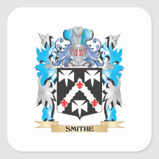 Smithe Coat of Arms - Family Crest Square Sticker
