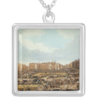 Smithfield Market, engraved by R.G. Reeve Silver Plated Necklace