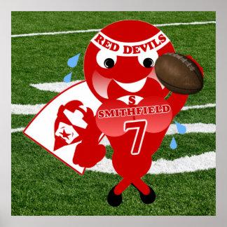 Smithfield Red Devils Football Poster