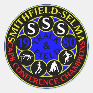 Smithfield-Selma 1980 Track Champions Classic Round Sticker