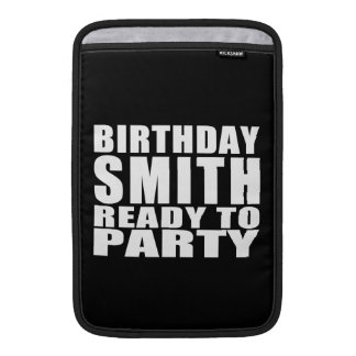 Smiths : Birthday Smith Ready to Party Sleeves For MacBook Air