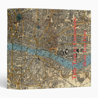Smith's new map of London 1860 3 Ring Binder