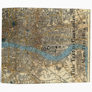 Smith's new map of London 1860 3 Ring Binders