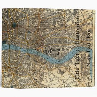Smith's new map of London 1860 Vinyl Binder