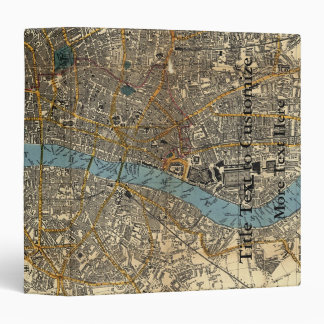 Smith's new map of London 1860 Binder