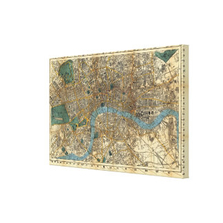 Smith's new map of London 1860 Gallery Wrap Canvas