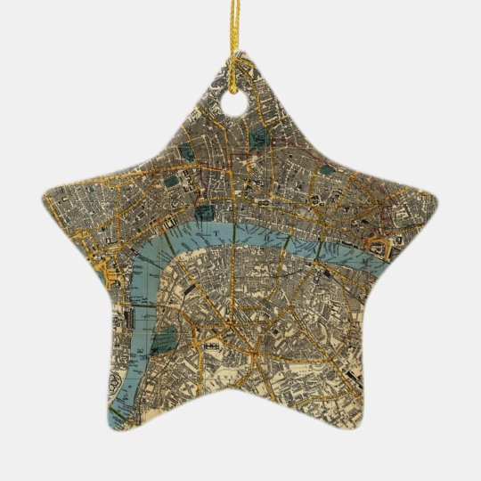 Smith's new map of London 1860 Ceramic Ornament
