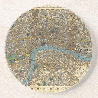 Smith's new map of London 1860 Drink Coaster