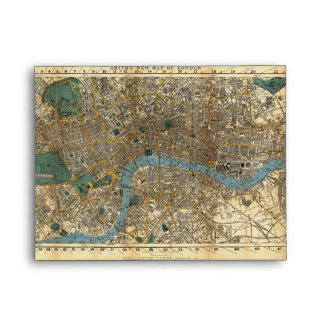 Smith's new map of London 1860 Envelope