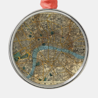 Smith's new map of London 1860 Metal Ornament