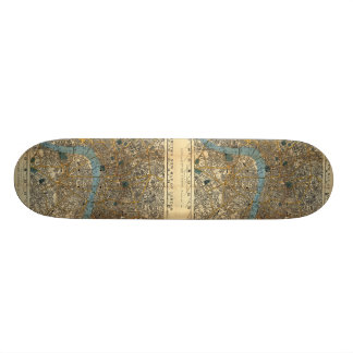 Smith's new map of London 1860 Skateboard Deck