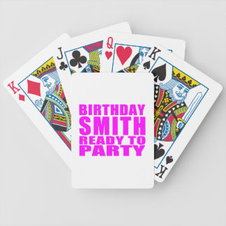 Smiths : Pink Birthday Smith Ready to Party Bicycle Playing Cards