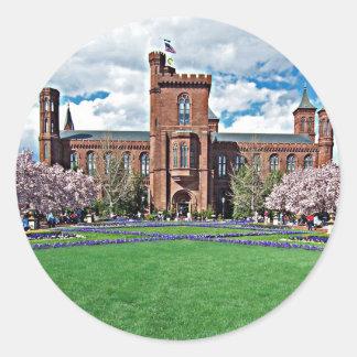 Smithsonian Castle and Haupt Garden Classic Round Sticker
