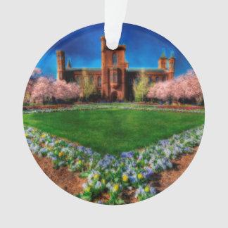 Smithsonian Castle Garden Cherry Blossoms Ornament