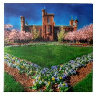 Smithsonian Castle Garden Cherry Blossoms Tile