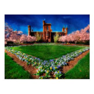 Smithsonian Castle Garden Spring Blossoms Postcard