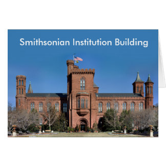 Smithsonian Institution Building in Washington, DC Card
