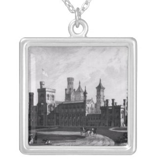 Smithsonian Institution from the South West Square Pendant Necklace