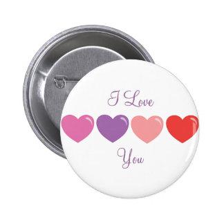 Smitten Heartline 2 Inch Round Button