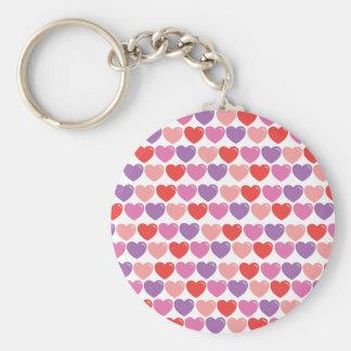 SmItten Hearts Basic Round Button Keychain