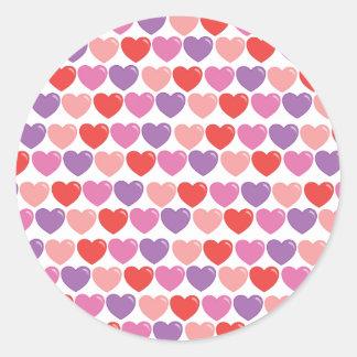 SmItten Hearts Classic Round Sticker