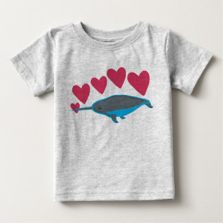 Smitten Narwhal Baby T-Shirt