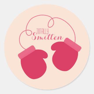 Smitten Valentine's Day Classic Round Sticker