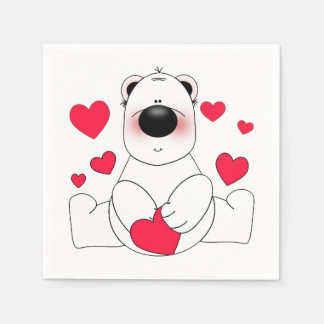 Smitten Valentine's Day Paper Napkins