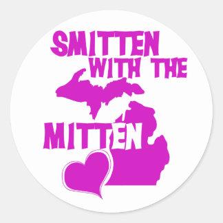 Smitten with the Mitten Classic Round Sticker
