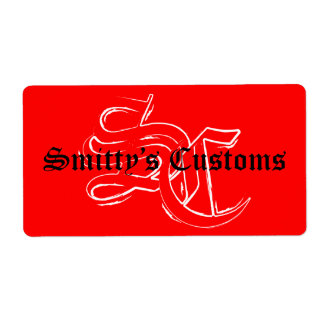 Smitty's Customs - Large Stickers Shipping Label